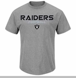Oakland Raiders Line of Scrimmage IV Charcoal Tee