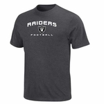 Oakland Raiders Line of Scrimmage V Charcoal Short Sleeve Tee