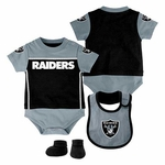 Oakland Raiders Little Jersey Set