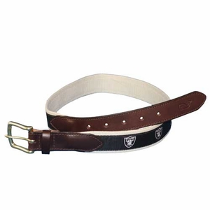 Oakland Raiders Logo Belt - Click to enlarge