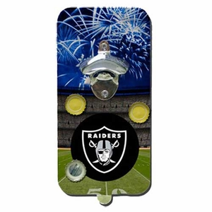 Oakland Raiders Magnetic Bottle Opener - Click to enlarge