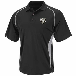 Oakland Raiders Majestic Athletic Advantage Polo Shirt - Click to enlarge