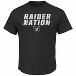 Oakland Raiders Majestic Battle Intensity Tee