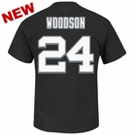 Oakland Raiders Majestic Charles Woodson Eligible Receiver II Tee