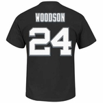 Oakland Raiders Majestic Charles Woodson Eligible Receiver III Tee