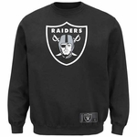 Oakland Raiders Majestic Classic Heavyweight Crew Fleece