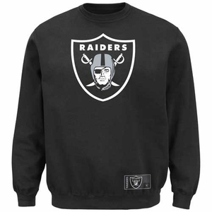 Oakland Raiders Majestic Classic Heavyweight Crew Fleece - Click to enlarge