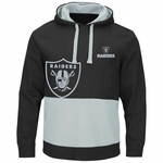 Oakland Raiders Majestic Coin Toss Pullover Fleece