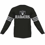 Oakland Raiders Majestic Corner Blitz Long Sleeve Tee