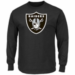 Oakland Raiders Majestic Critical Victory Black Long Sleeve