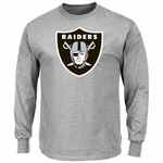 Raiders Majestic Critical Victory Grey Long Sleeve