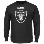 Oakland Raiders Majestic Critical Victory Long Sleeve Black Tee