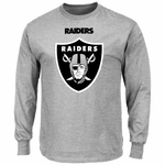 Oakland Raiders Majestic Critical Victory Long Sleeve Grey Tee