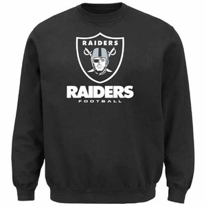 Oakland Raiders Majestic Critical Victory VIII Crew - Click to enlarge