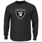 Oakland Raiders Majestic Critical Victory VIII Long Sleeve Black Tee