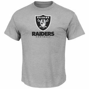 Oakland Raiders Majestic Critical Victory VIII Steel Tee - Click to enlarge