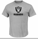 Oakland Raiders Majestic Critical Victory VIII Steel Tee