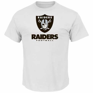 Oakland Raiders Majestic Critical Victory VIII White Tee - Click to enlarge