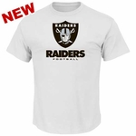 Oakland Raiders Majestic Critical Victory VIII White Tee