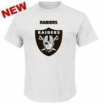 Oakland Raiders Majestic Critical Victory White Tee