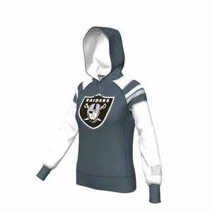 Oakland Raiders Majestic Deep Post IV Full Zip Hood - Click to enlarge