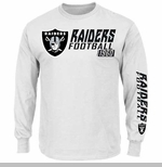 Oakland Raiders Majestic Dual Threat VI Long Sleeve Tee