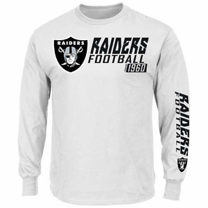 Oakland Raiders Majestic Dual Threat VI Long Sleeve Tee - Click to enlarge