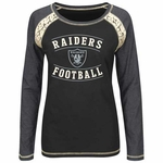 Oakland Raiders Majestic Fantasy League Long Sleeve Tee