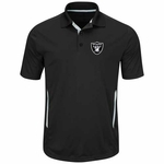 Oakland Raiders Majestic Field Classic Black Polo