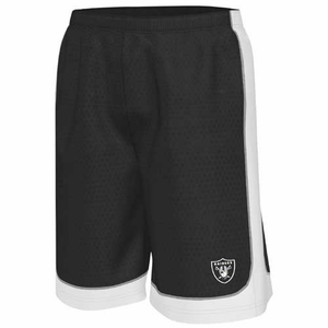 Oakland Raiders Majestic Fiercy Fastball Shorts - Click to enlarge