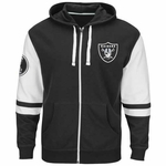 Oakland Raiders Majestic Free Pace Full Zip Fleece