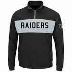 Oakland Raiders Majestic Goal Line 1/4 Zip