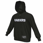 Oakland Raiders Majestic Heavyweight Full Zip Black Hood