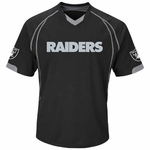Oakland Raiders Majestic Lead Hitter Tee