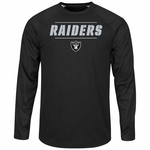 Oakland Raiders Majestic League Rival Long Sleeve Tee