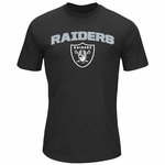 Oakland Raiders Majestic Line of Scrimmage Black Tee