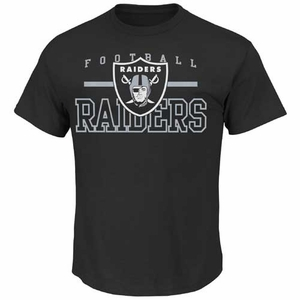 Oakland Raiders Majestic Line of Scrimmage Black VII Tee - Click to enlarge