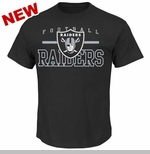 Oakland Raiders Majestic Line of Scrimmage Black VII Tee