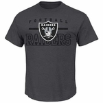 Oakland Raiders Majestic Line of Scrimmage Charcoal VII Tee