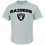 Oakland Raiders Majestic Line of Scrimmage Grey Tee