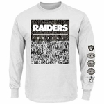 Oakland Raiders Majestic Official History Long Sleeve Tee
