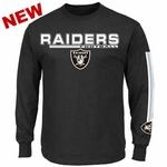Oakland Raiders Majestic Primary Receiver V Long Sleeve Tee