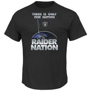 Oakland Raiders Majestic Raider Nation III Tee - Click to enlarge