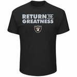 Oakland Raiders Majestic Return to Greatness Tee