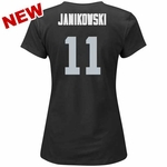 Oakland Raiders Majestic Sebastian Janikowski Womens Fair Catch Tee