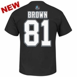 Oakland Raiders Majestic Tim Brown Eligible Receiver Name and Number Tee