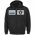 Oakland Raiders Majestic Touchback Full Zip Fleece