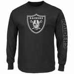 Oakland Raiders Majestic Up and Over Long Sleeve Tee