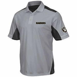 Oakland Raiders Majestic Victory Anthem Polo Shirt - Click to enlarge