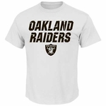 Oakland Raiders Majestic White Graphic Tee